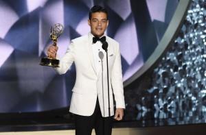 Rami Malek, ganador del Emmy al mejor actor de drama por 'Mr. Robot'.