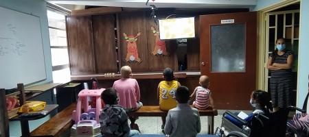 Llevamos televisión satelital a los niños delhospital de Mérida